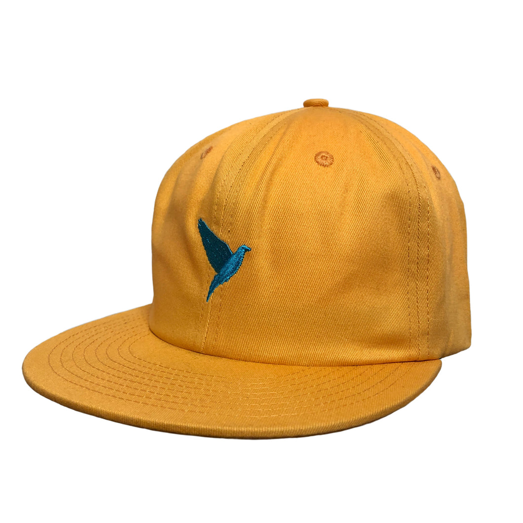 Dove 6 Panel Low Profile Hat Yellow
