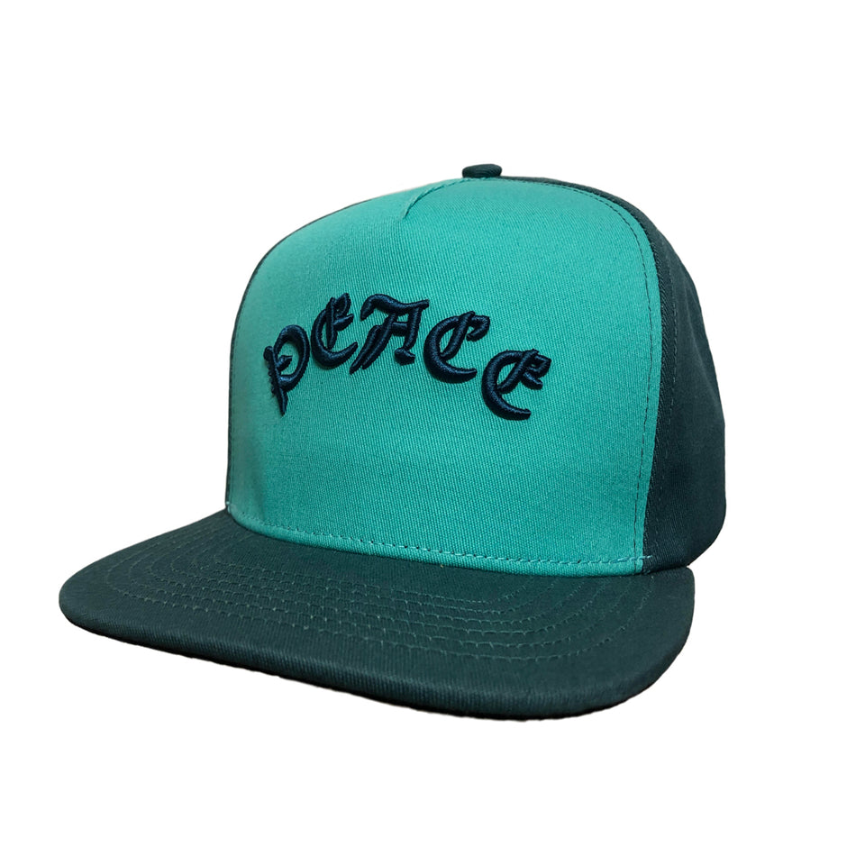 Peace Skull Snap Back Teal