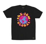 SHALOM GLOBAL MENS TEE BLACK