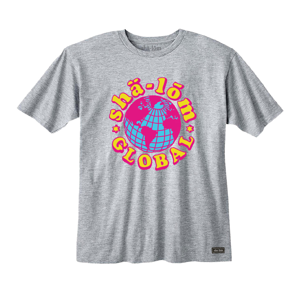SHALOM GLOBAL MENS TEE HEATHER