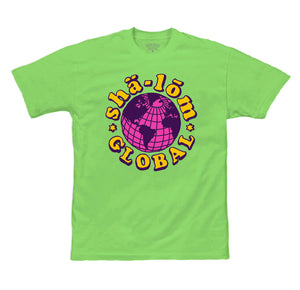 SHALOM GLOBAL MENS TEE LIME