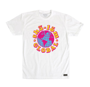 SHALOM GLOBAL MENS TEE WHITE