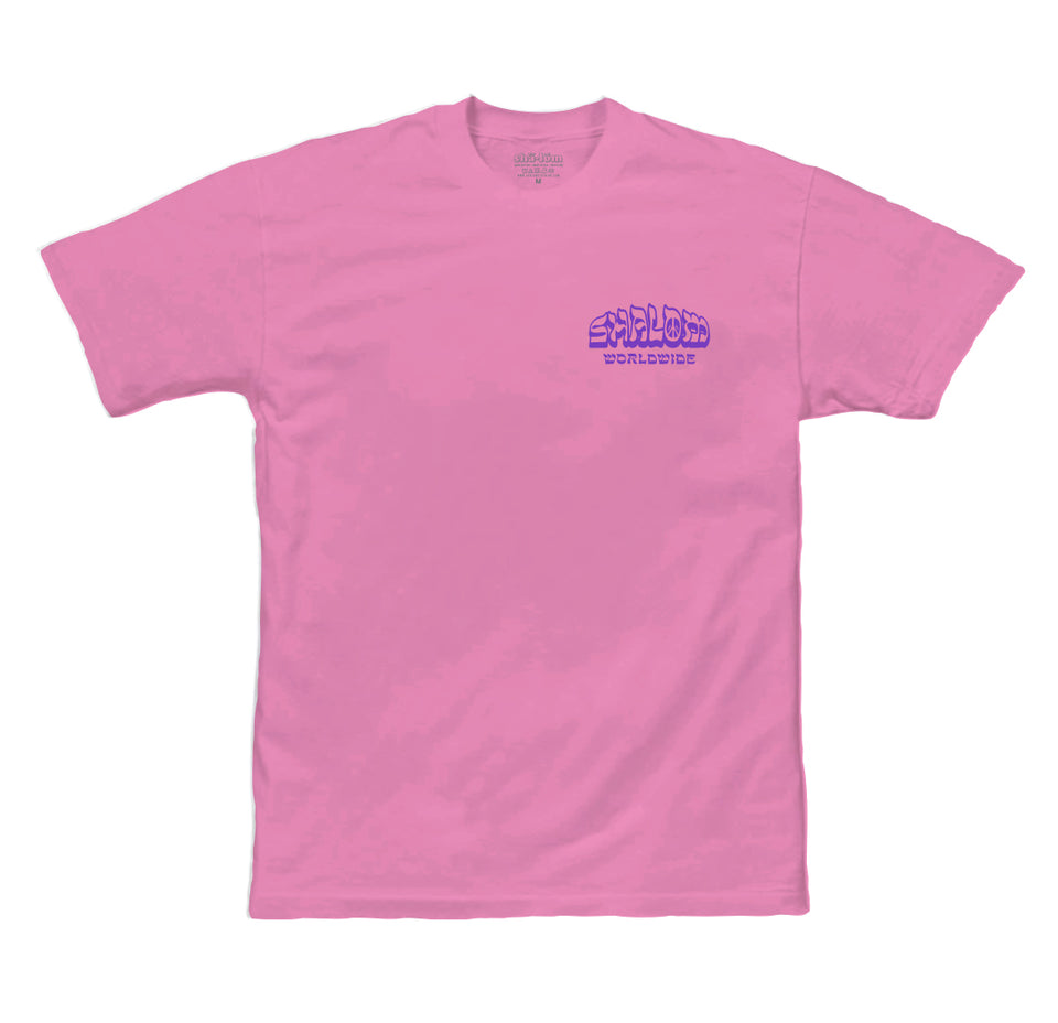 PEACE IN PARADICE MENS TEE PINK