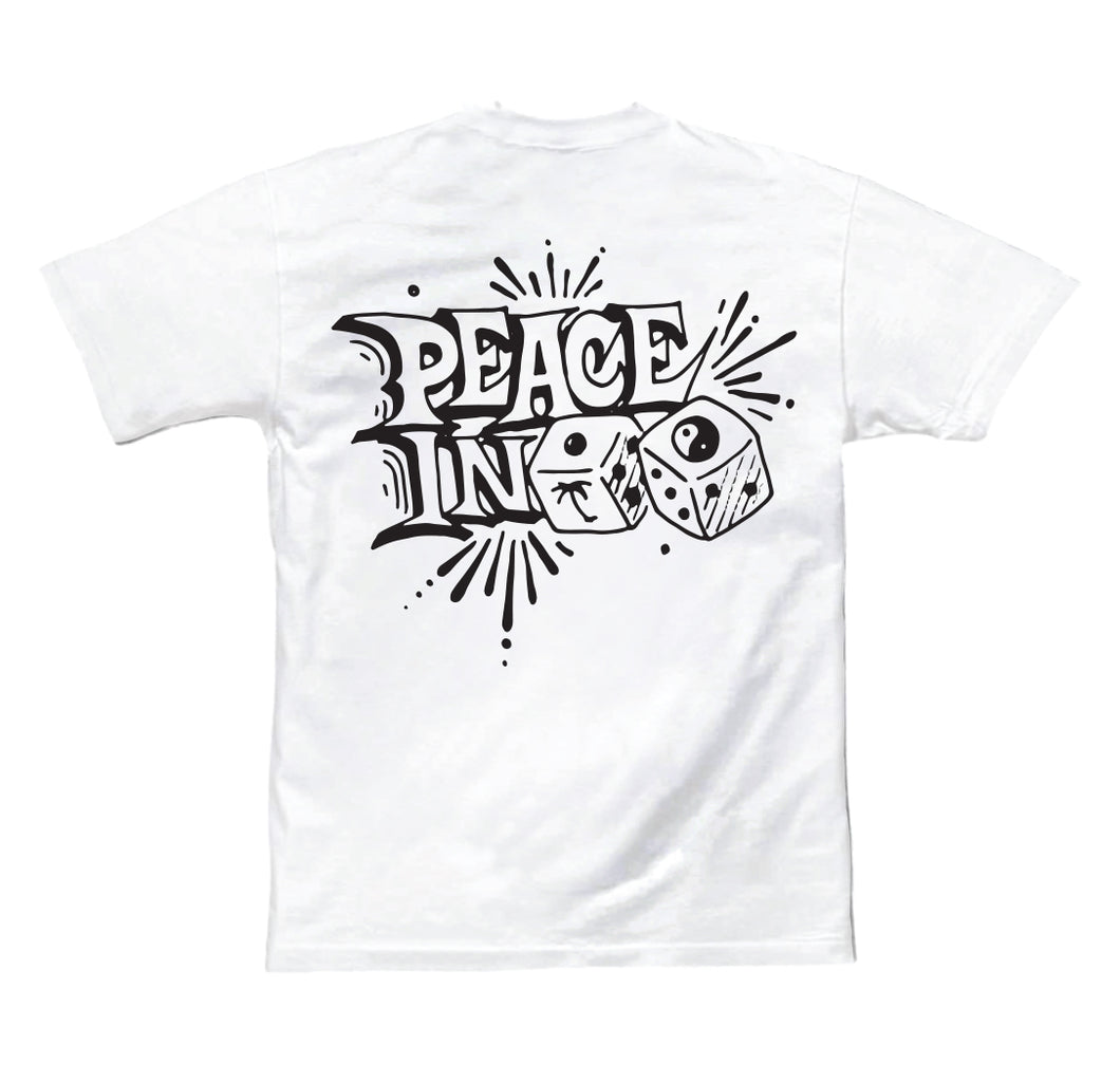 PEACE IN PARADICE MENS TEE WHITE