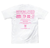 SHALOM WORLDWIDE MENS TEE WHITE