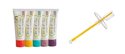 Silicone Toothbrush and Toothpaste