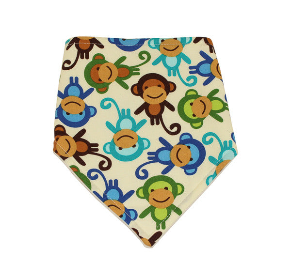 Boys Monkey Dribble Bib