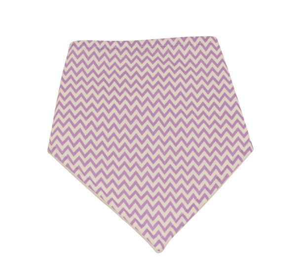 Girls Lilac Dribble Bib