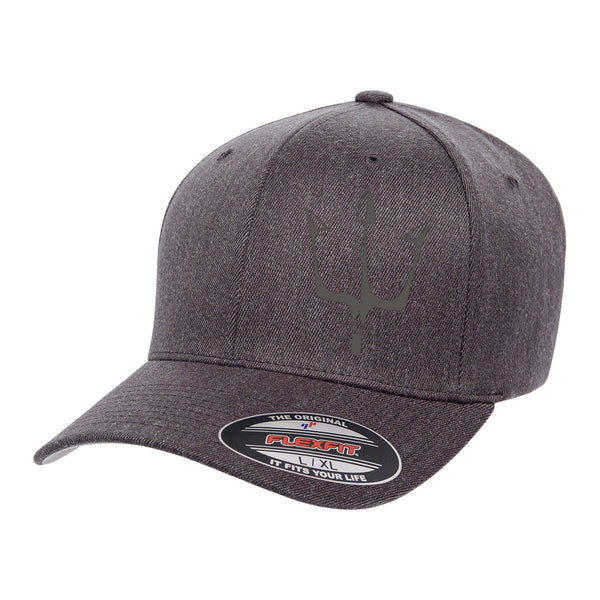 Lake City Clothing flagship hat in dark gray with reflective trident graphic