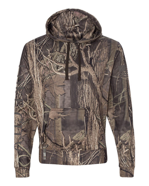 Reflective hoodie in camouflage print for women