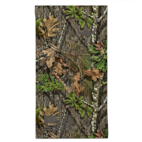Reflective gaiter in Mossy Oak Obsession camouflage