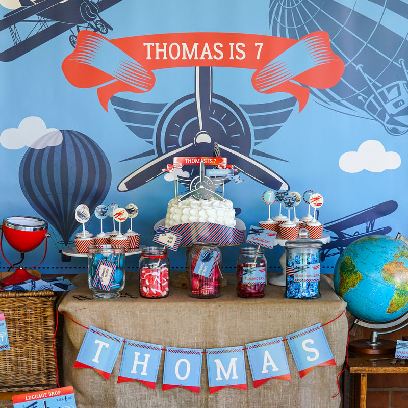 Tom's Vintage Blimp and Biplane Party