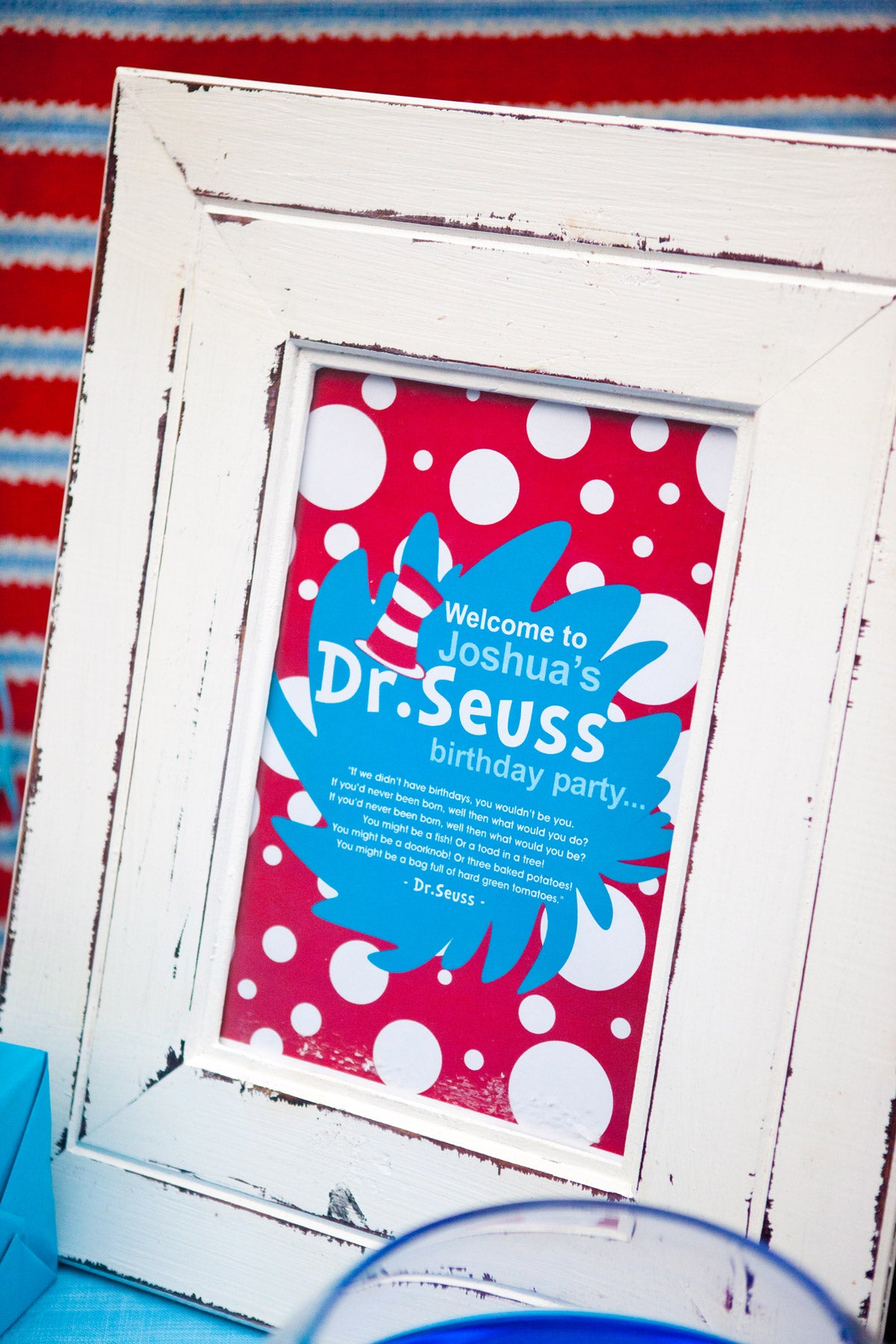 Dr Seuss Kids Party Welcome Sign