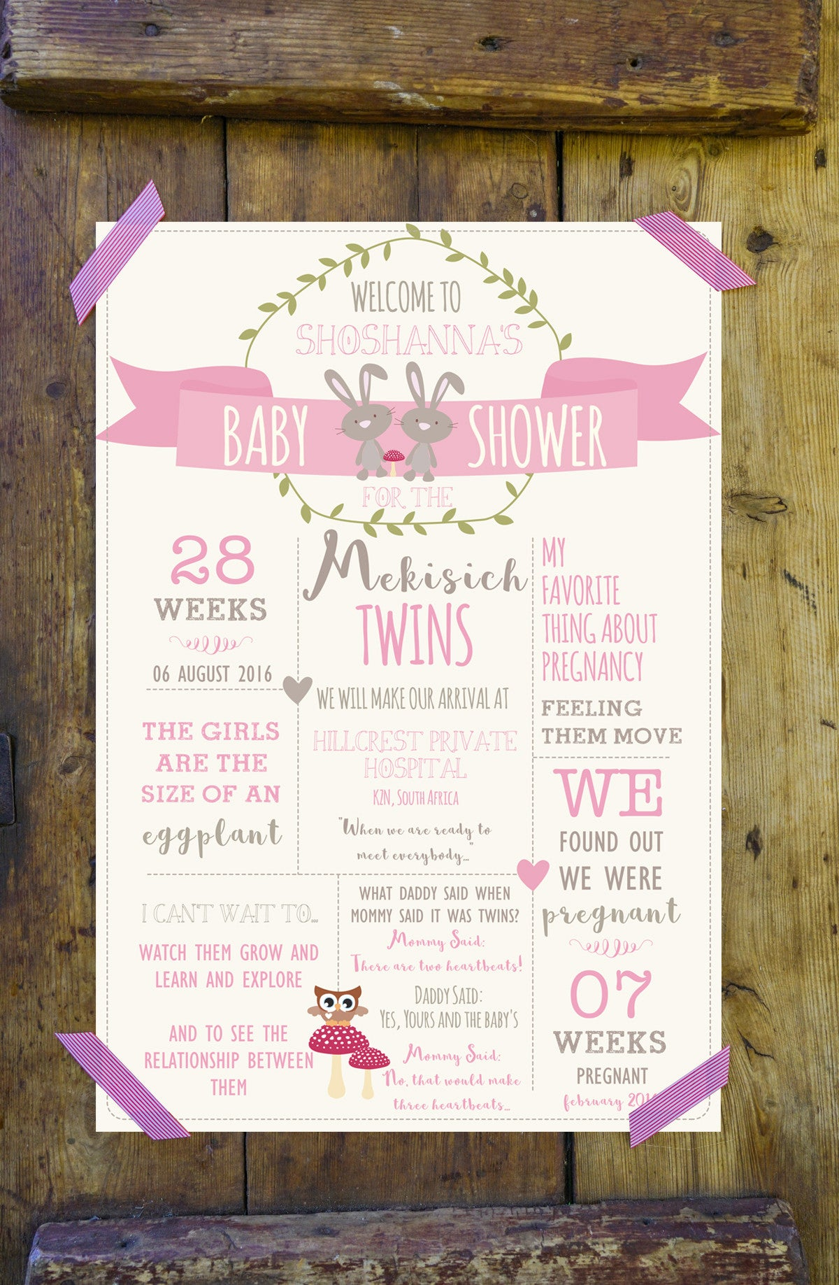 Twin Girl s Baby Shower Twice as nice with double the love