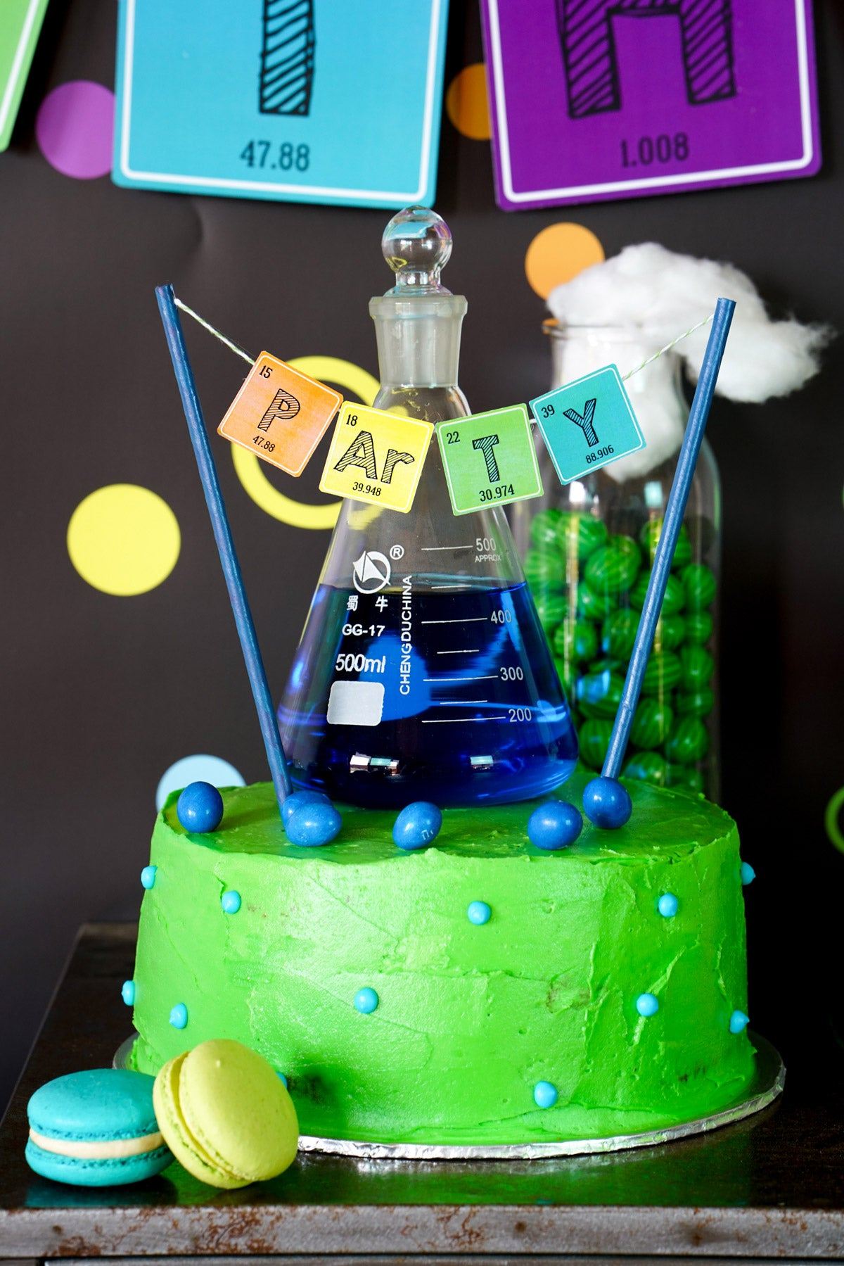 Science Experiment Party Birthday Cake Ideas