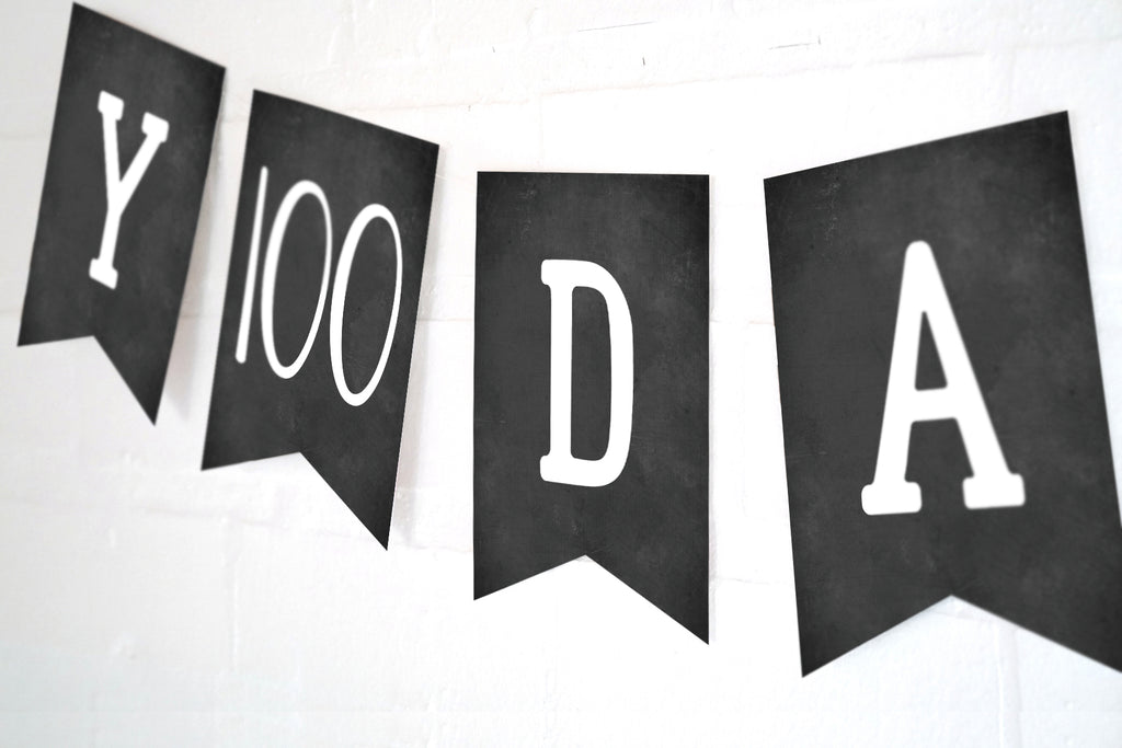 Happy 100 Days Celebration  Banner