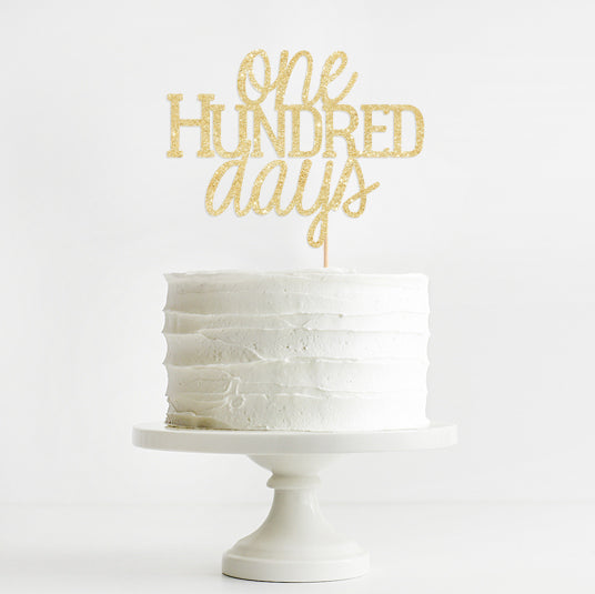 Happy 100 Days Cake Topper