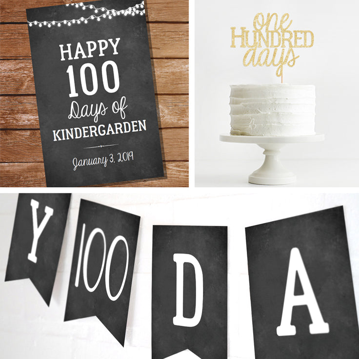 100 days Printable Decor