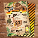 Indiana Jones Party Invitation
