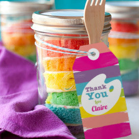 Art Party Favor Tags for a Girl | Rainbow Art Party Favors