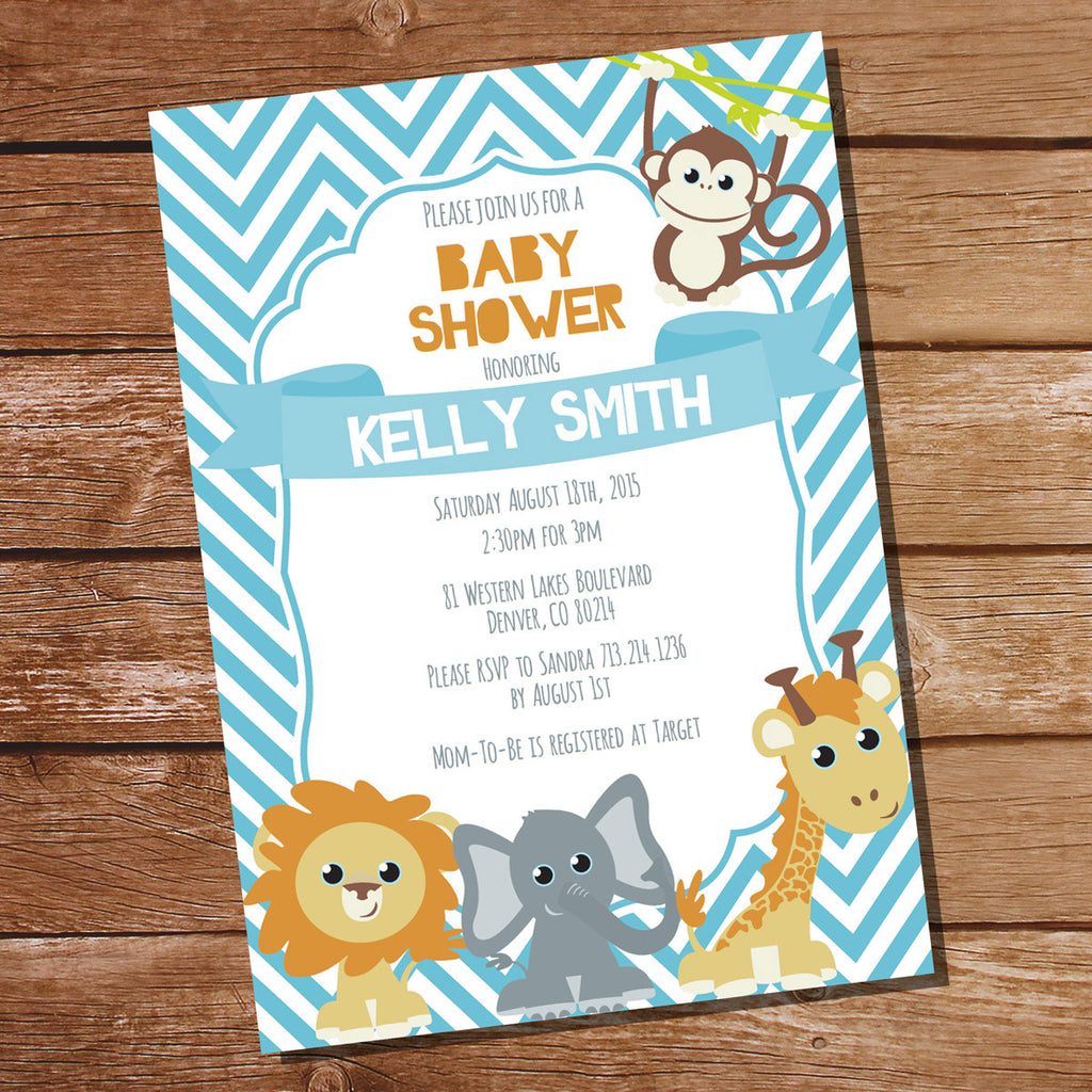 Baby Safari Baby Shower Invitation