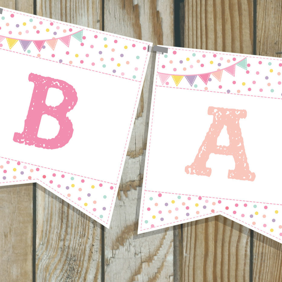 Sprinkle Baby Shower Banner For A Girl
