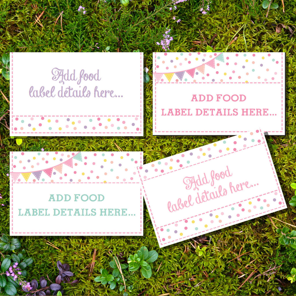 Sprinkle Baby Shower Food Labels | Tent Cards