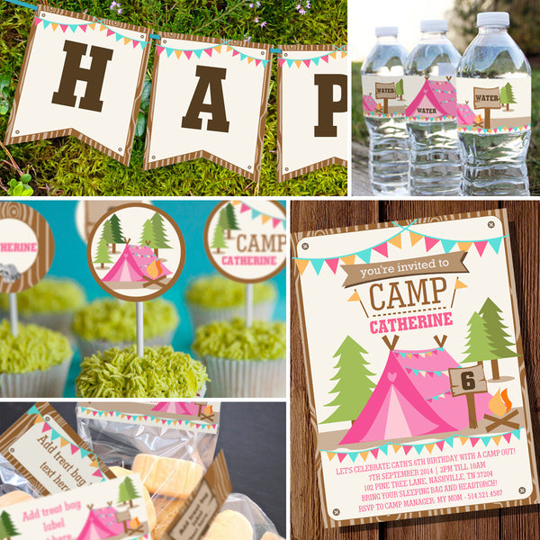 Backyard Camping Party Decorations For A Girl