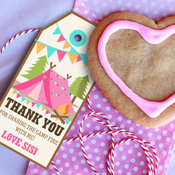 Backyard Camping Party Favors For A Girl
