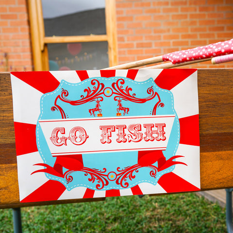 Backyard Carnival Party Game Signs