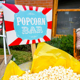 Backyard Carnival Popcorn Bar Printable Set