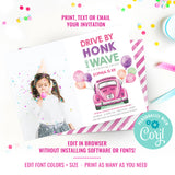 Drive By Birthday Party Photo Invitation