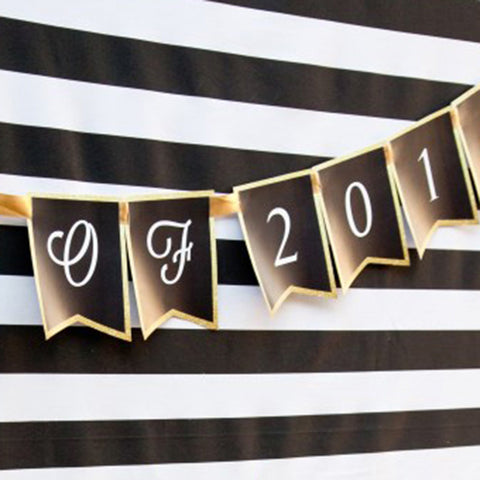 Black and Gold Graduation Party Banner | Gold Graduation Party