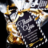 Black and Gold Graduation Party Decorations Set