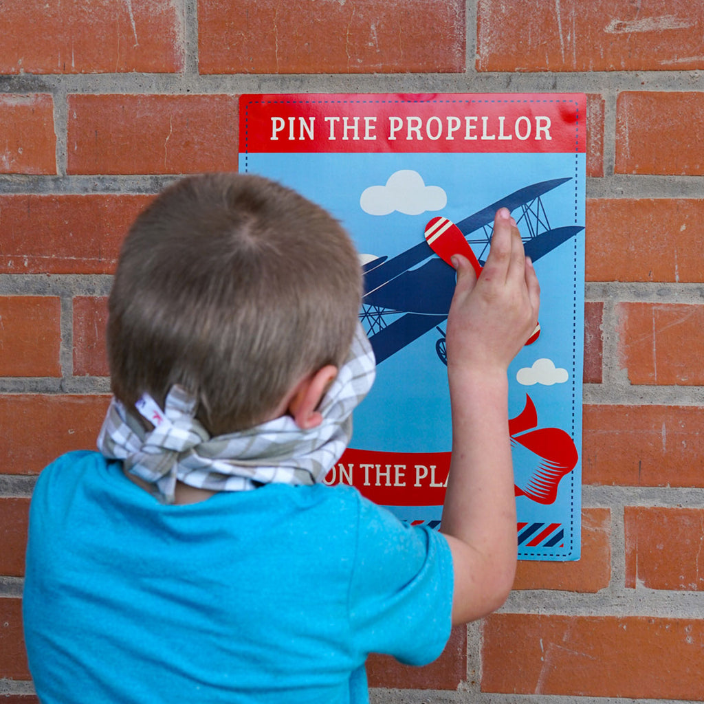Vintage Airplane Pin the Propeller on the Plane Printable Game