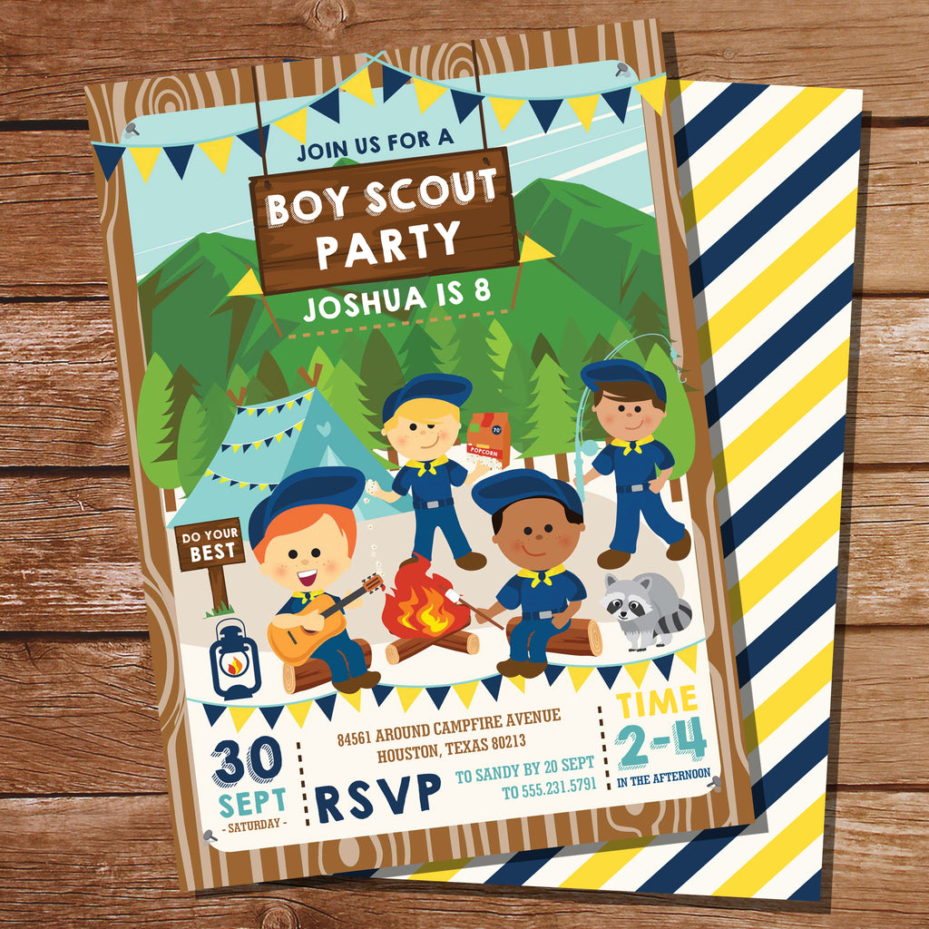 Boy Scout Party Invitation
