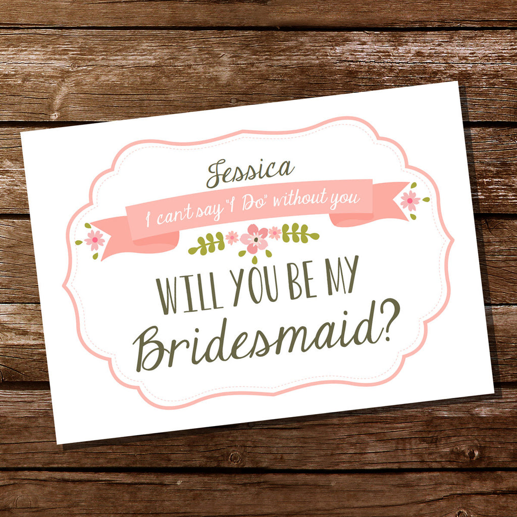 Bridesmaid Invitation Cards | Will you be my Bridesmaid
