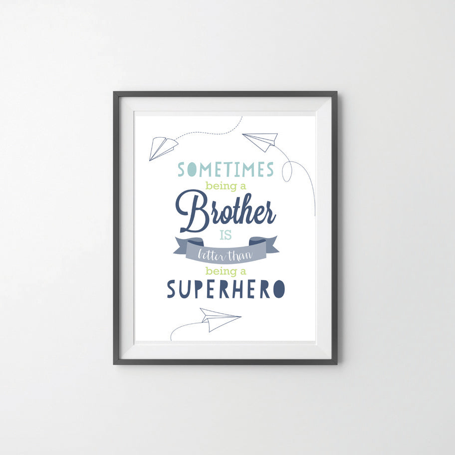 Brother Superhero bedroom Wall Poster for Boys