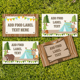 Camping Party Tent Cards