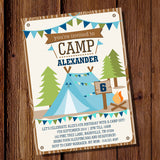 Boys Camping Party Full Party Set | Backyard Campout Party Decorations