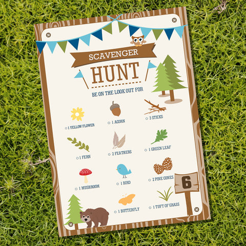 Backyard Camping Party Game for a Boy