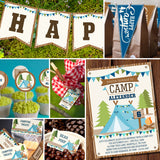 Boys Camping Party Full Party Set | Backyard Camping Party for Boys