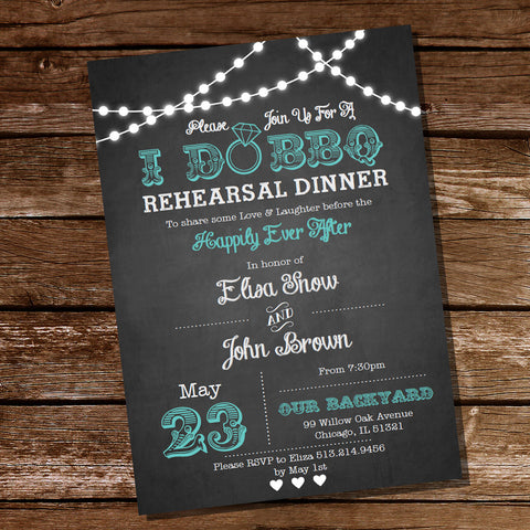 I Do BBQ Rehearsal Dinner Invitation