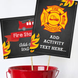 Firefighter Game Signs
