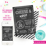 Cheese and Wine Party Invitation