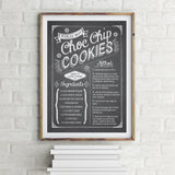 Chalkboard Custom Recipe Poster