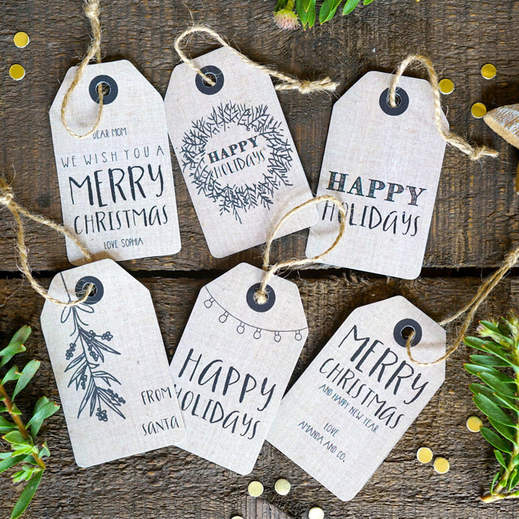 Christmas Labels.Christmas Kraft Tags Personalized Christmas Labels
