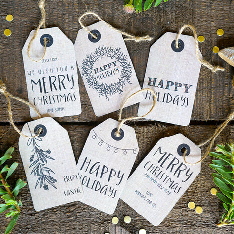 Christmas Kraft Tags | Personalized Christmas Labels