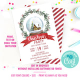 Holiday Snow globe Invitation