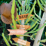 Cowboy Party Ideas Signage